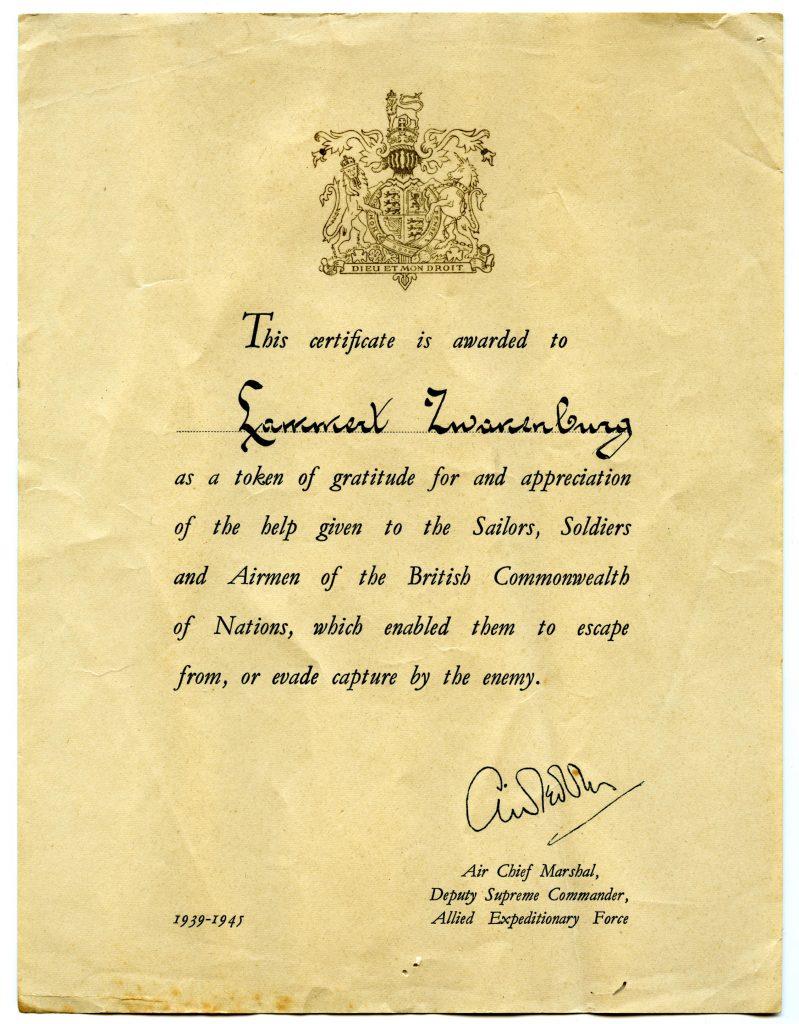Lammert onderscheiding Engelsen